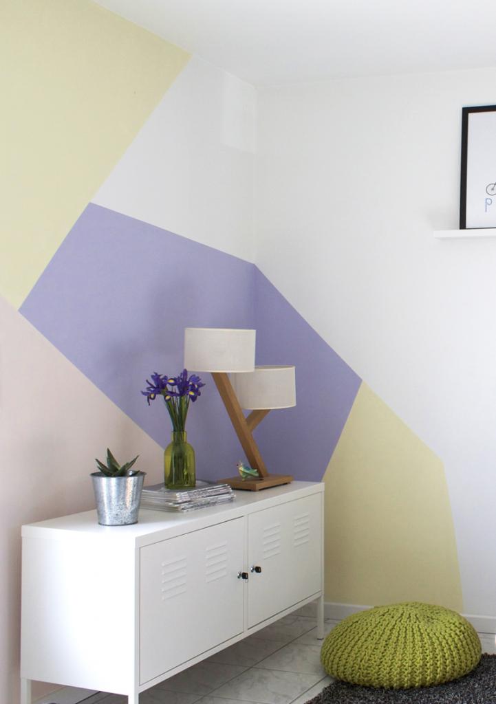Pastel wall milk with mint for Peinture murale motif