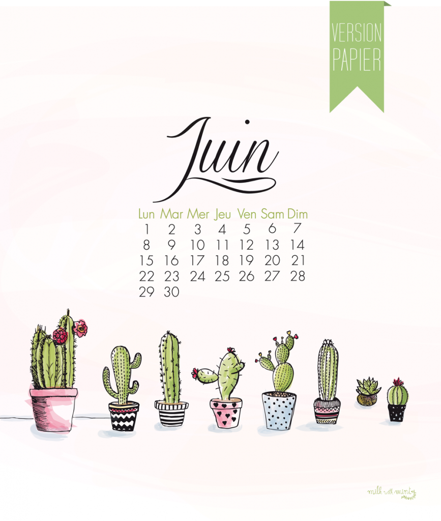 Calendrier de juin milk with mint for Calendrier jardin juin 2015