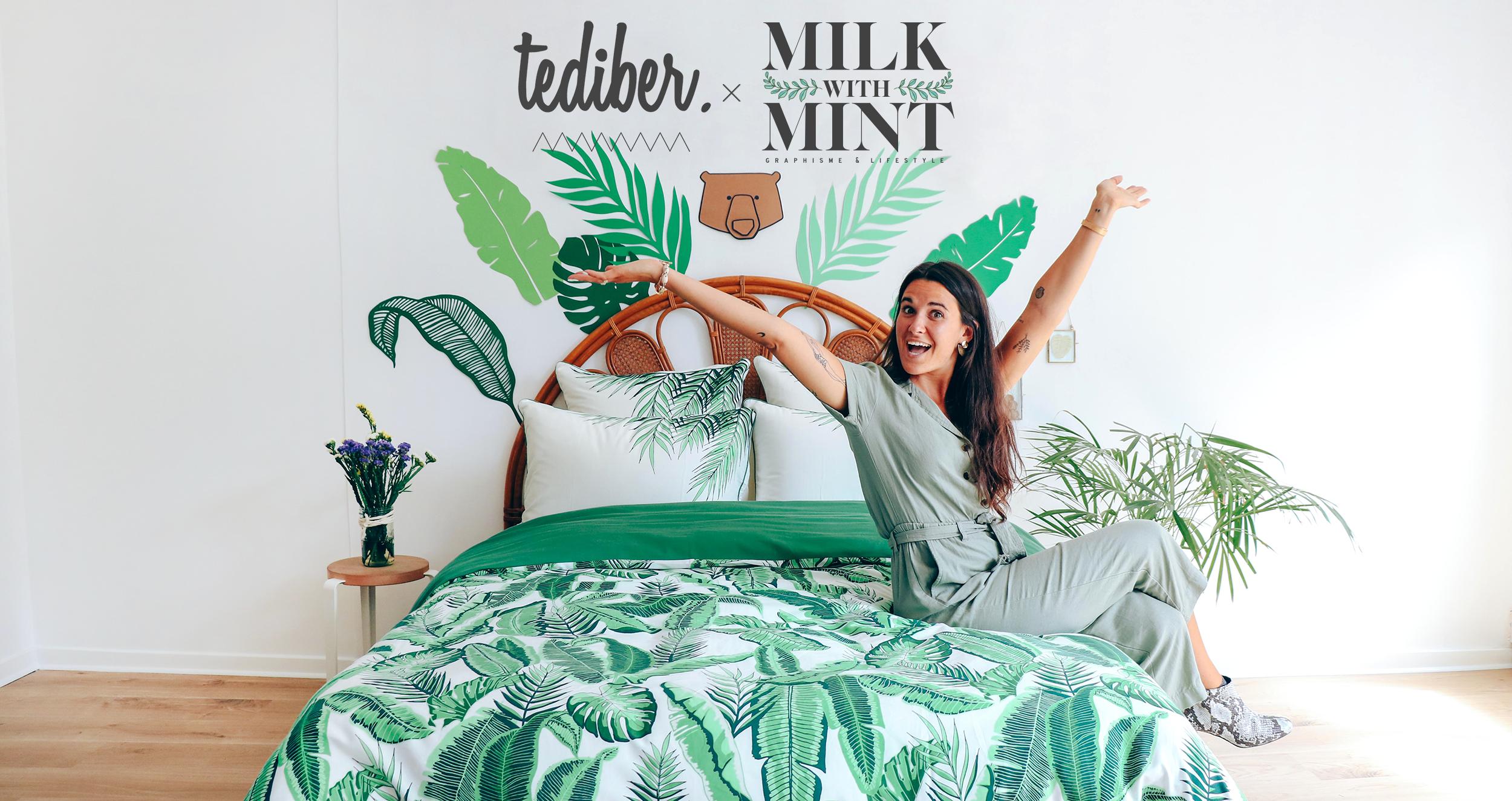 Tediber X Milk with Mint : l'incroyable linge de lit (+ concours)