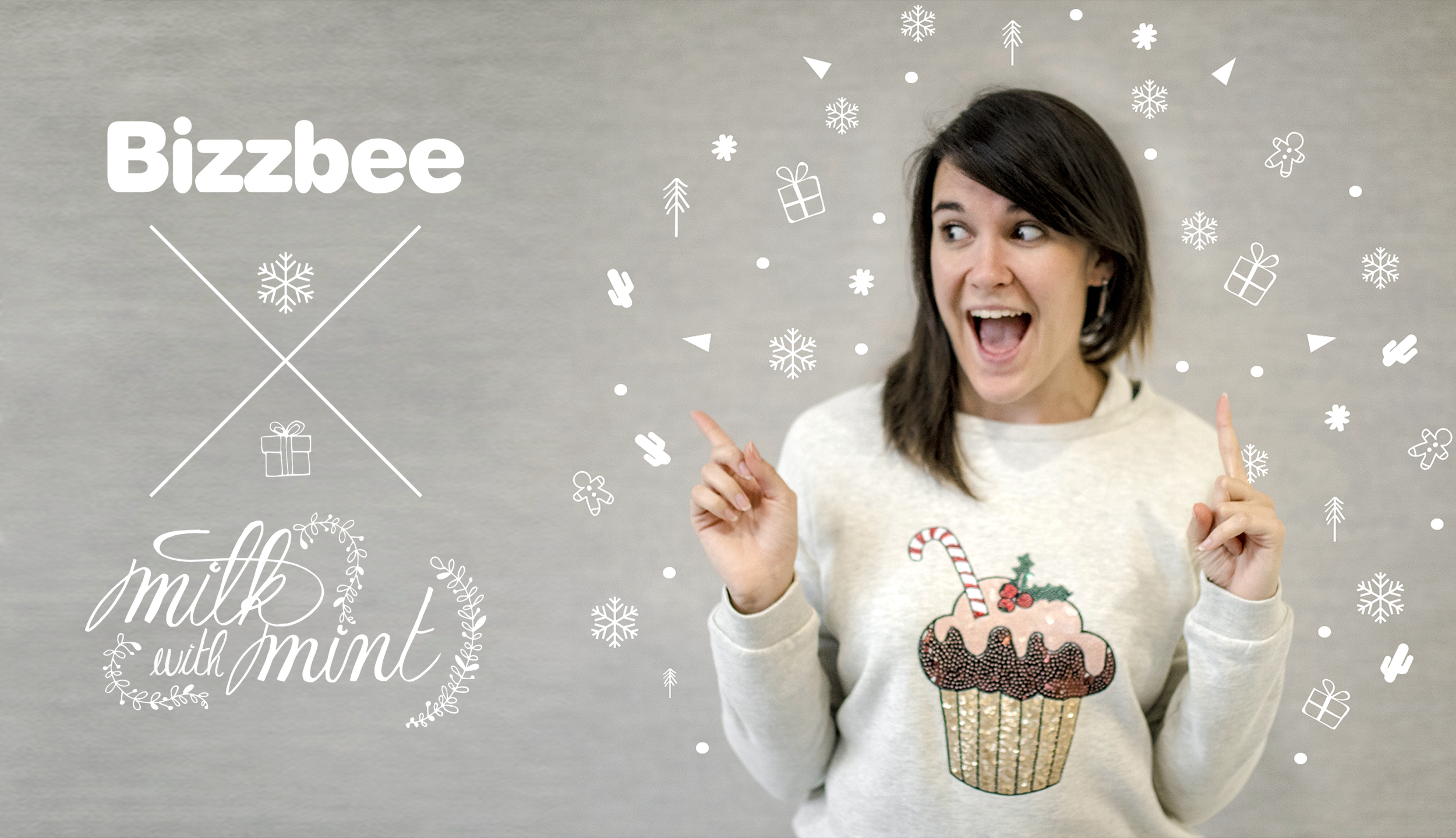 Milk with mint X Bizzbee – Happy christmas!